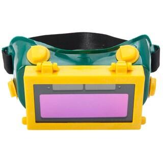 Solar Powered Auto Darkening Welding Goggles Yellow