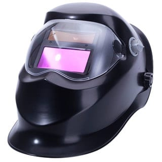 WS-500 Solar Powered Auto Darkening Arc Tig Mig Welding Helmet Black