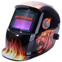 BZ-107 Solar Powered Auto Darkening Arc Tig Mig Welding Helmet Leopard Pattern