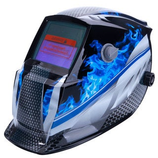 Solar Powered Auto Darkening Arc Tig Mig Welding Helmet Racer Pattern