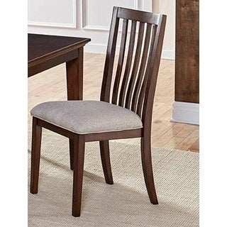 Simply Solid Tasha Brown Cherry Wood Dining Chairs (Set of 2)