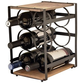 Iron And Wood 6 Bottle Wine Rack