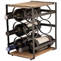Carbon Loft Latimer Iron And Wood 6 Bottle Wine Rack