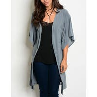 JED Women's Relax Fit 3/4 Sleeve Casual Cardigan