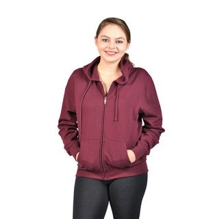 C'est Toi Junior Plus Size Hooded Fleece-Lined Sweatshirt (Option: Blue)