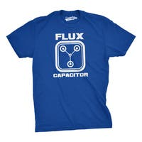Flux Capacitor T Shirt Funny Vintage Movie Parody Tee