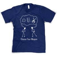 Choose Your Weapon Funny Rock Paper Scissors T Shirt