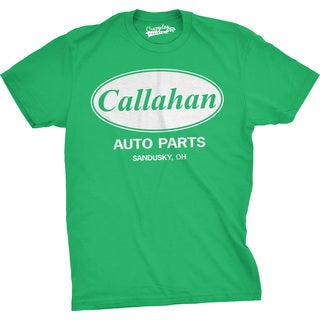Men's Callahan Auto Parts T Shirt Funny Logo Novelty Vintage Movie Tee for Guys (Option: Green)