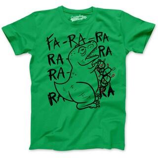 Mens Fa Ra Ra Ra Ra Trex Christmas Lights Funny Holiday Dinosaur T shirt (More options available)