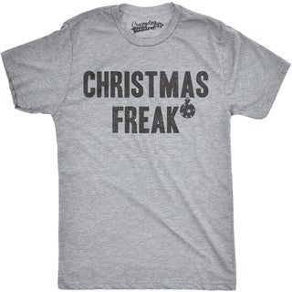 Mens Christmas Freak Funny Holiday Cheer Ornament T shirt (Grey)