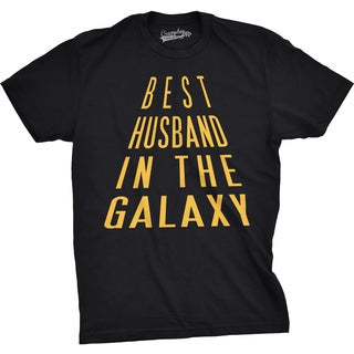 Mens Best Husband In The Galaxy Funny Nerdy Love Marriage T shirt