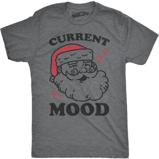Mens Current Mood Santa Funny Christmas Holiday Ho Ho Ho T shirt