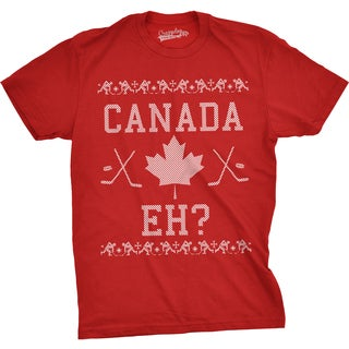 Mens Canada Eh Ugly Christmas Sweater Canadian Pride Holiday T shirt