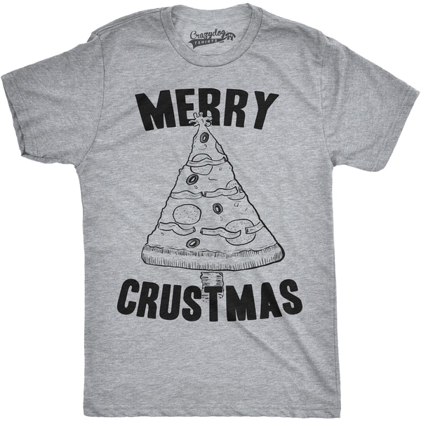 4ab29b19 Shop Mens Merry Crustmas Funny Pizza Christmas Tree Holiday T shirt - Free  Shipping On Orders Over $45 - Overstock - 16182085