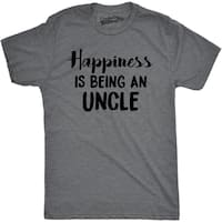 Mens Happiness Is Being an Uncle Funny Family Relationship T shirt