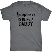 Mens Happiness Is Being a Daddy Funny Fathers Day Family Proud Dad T shirt