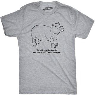 Mens Hippo Not That Hungry Funny Hippopotamus Animal T shirt