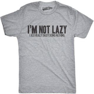 Mens Im Not Lazy I Like Doing Nothing Funny Laziness T shirt