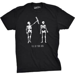 Mens Got Your Back Funny Skeleton Best Friend Halloween T shirt (Black)