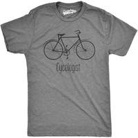 Mens Cycologist Funny Psychology Biking Cyclist Pun Biker Tee T shirt (Grey)