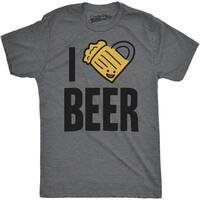 Mens Scented Ink I Heart Beer FunnyFunny Pub Smelling Scratch and Sniff T shirt