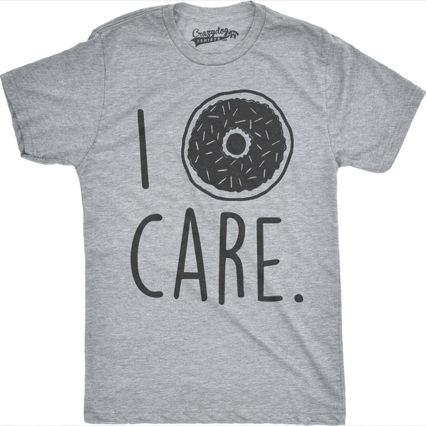 0b2ceafc0 Shop Mens I Donut Care Funny Doughnut Pun Breakfast T shirt (Grey) - On  Sale - Free Shipping On Orders Over $45 - Overstock - 16182355
