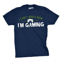 Mens Cant Adult Today Im Gaming Funny Nerd Video Gamer T shirt (Navy)
