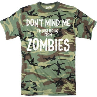 9e2b8360 Shop Mens Just Hiding From Zombies Funny Full Camouflage Print T shirt (Camo)  - Free Shipping On Orders Over $45 - Overstock - 16182418