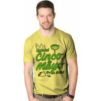 Mens Official Cinco de Mayo Tee Funny Taco Mexico Drinking T shirt (Yellow)