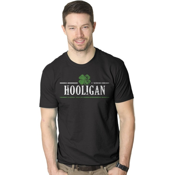 015261ac3 Shop Mens Irish Clover Hooligan Funny St. Paddy's Day Drinking T shirt  (Black) - Free Shipping On Orders Over $45 - Overstock - 16182721