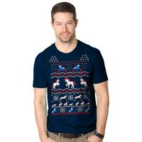 Shop Mens Merry Christmas Vintage Movie Ugly Christmas Sweater T