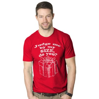 Mens Judging By Size Funny Christmas Present T shirt (More options available)