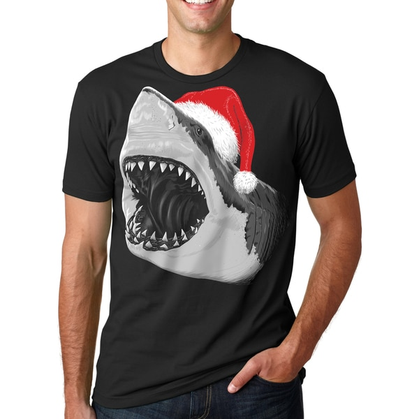 d0ae0b0e7 Shop Mens Santa Jaws T Shirt Cool Christmas Hat Shark Pun Tee - On Sale -  Free Shipping On Orders Over $45 - Overstock - 16182956