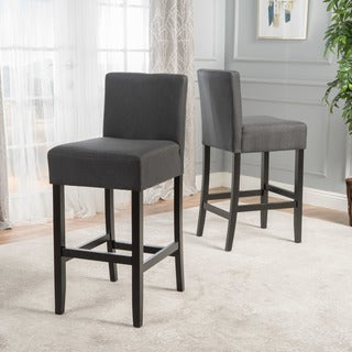 Portman Fabric Backed Barstool (Set of 2) by Christopher Knight Home