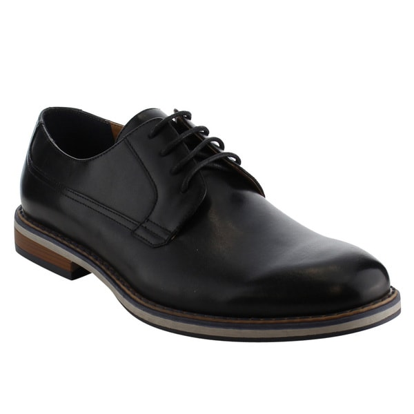 Arider AG48 Men's Lace Up Stacked Heel Work Dress Oxfords