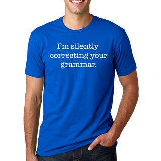 Mens Correcting Grammar , Proper You're & Let's Eat Kitty 3 Pack Combo Tees