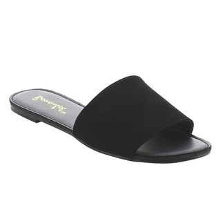 Bonnibel Women's FJ84 Flat Heel Slip-on Slide Sandals