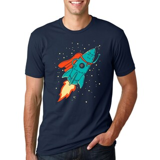 Super Rocket T Shirt Funny Outer Space Astrology Tee