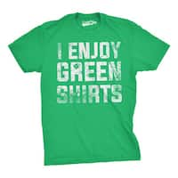 I Enjoy Green Shirts Tee Funny Tee For Saint Patty's Day