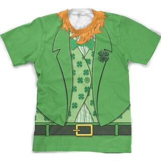 Leprechaun Full Print T Shirt Funny Saint Patricks Day Tee