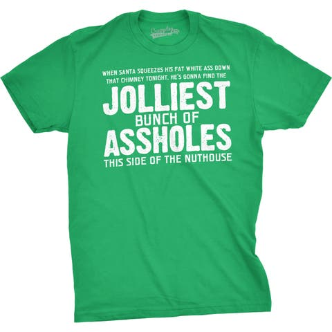 Jolliest Bunch of A-holes Funny Christmas Holiday Family T shirt