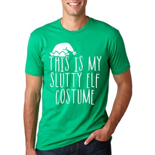 This is My Slutty Elf Costume T-Shirt Funny Christmas Tee