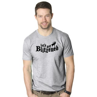 Let's Get Blitzened T Shirt Funny Reindeer Christmas Drinking Tee