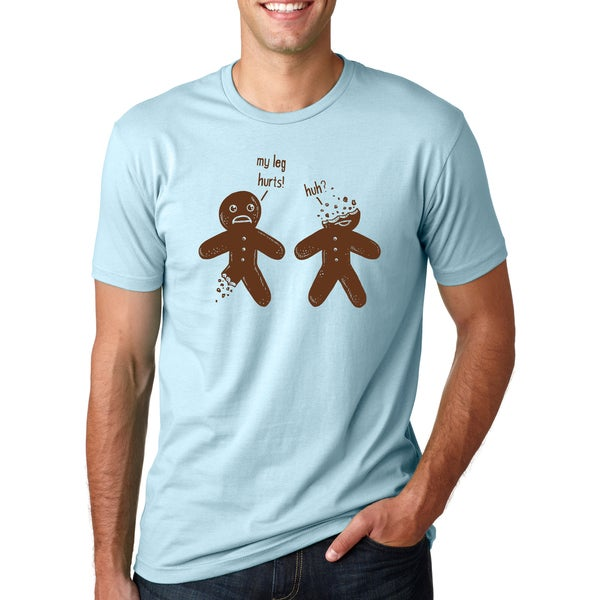Half Eaten Injured Gingerbread Cookies Talking Funny Christmas Tee