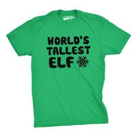 World's Tallest Elf T Shirt Funny Christmas Tee Elves Shirt
