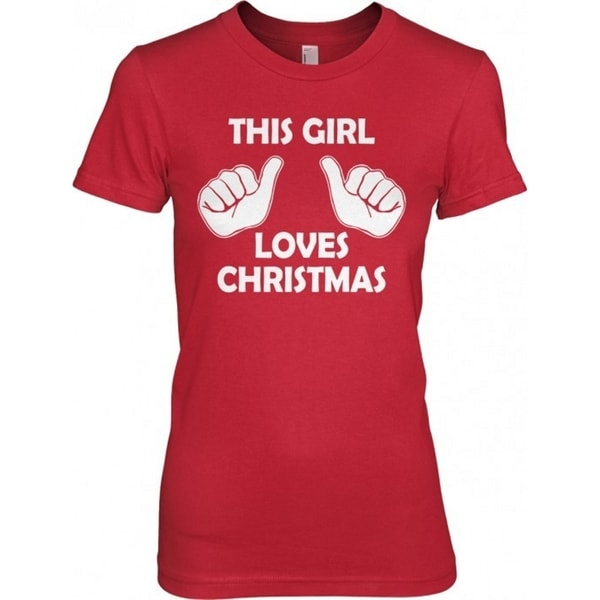 5542eec5 Shop Men's RED This Girl Loves Christmas T Shirt Funny Holiday Shirt Xmas  Tee - Free Shipping On Orders Over $45 - Overstock - 16183252
