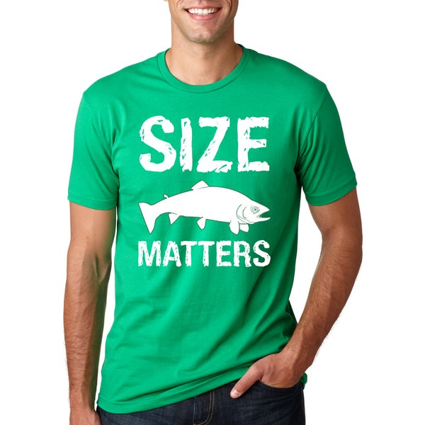 7e98aeeb Shop Size Matters Fish T Shirt Funny Fishing Shirt Big Fish Tee - Free  Shipping On Orders Over $45 - Overstock - 16183331