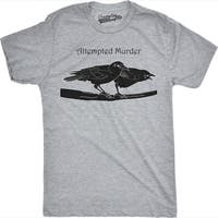 Attempted Murder T Shirt Funny Crow Shirt Birds Tee