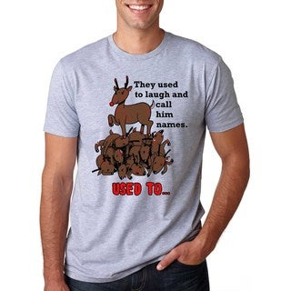 Rudolph the Psychopath Reindeer T Shirt Funny Christmas Shirt Xmas Tee (More options available)