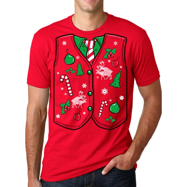 Ugly Christmas Sweater Vest T Shirt Funny Xmas Shirt - Free ...